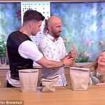 Painful moment Polish magician tries to show off a trick on live TV