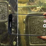 Ancient Mayan Statue with QR Code Face. Aliens Warning Us?
